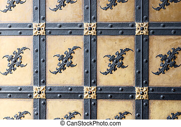 Decorative ornament forged gate elements