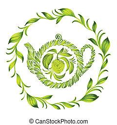 decorative ornament herbal circle