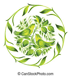 decorative ornament herbal green circle