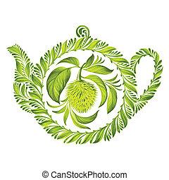 decorative ornament herbal teapot