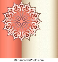 Decorative ornament with place for text