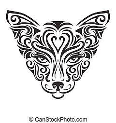 Decorative ornamental cat silhouette.