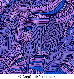 Decorative ornamental ethnic vector background - Decorative...