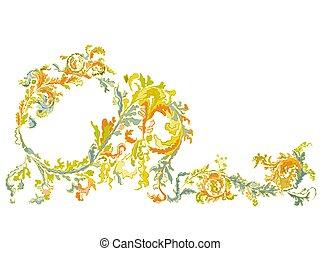 Decorative ornamental floral