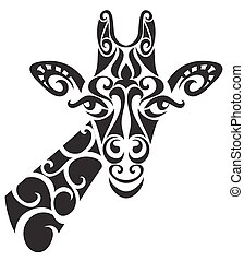 Decorative ornamental giraffe silhouette. vector...