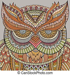 Decorative ornamental Owl background