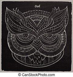 Decorative ornamental Owl head