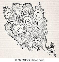 Decorative ornamental peacock background
