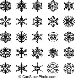 Decorative ornamental snowflakes se