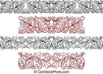 Decorative ornaments and borders