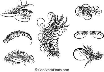 Decorative ornaments,vector - Decorative ornaments,line art