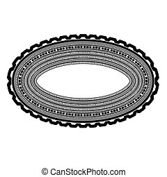 Decorative Oval Frame Isolated