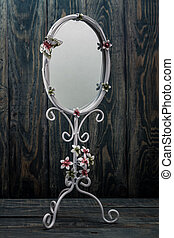 Decorative Oval White Mirror