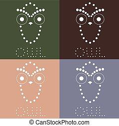 decorative owl vector design template