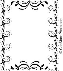 Decorative Page Frame in Black and White