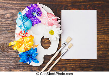 Decorative palette with Easter eggs