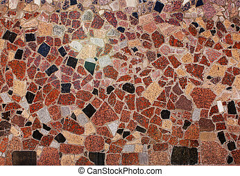 Decorative panel from different granite blocks - Texture - ...