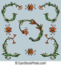 Decorative Pansy Flourishes