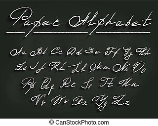 Decorative paper white font