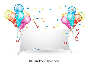 Decorative Party Balloons Banner