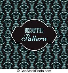 Decorative pattern background - Elegant background with...