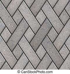 Decorative Pattern Fragment of Gray Paving Slabs. Seamless ...