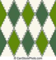 Decorative pattern from rhombuses
