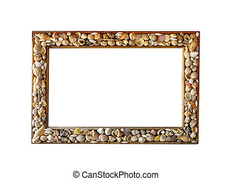 photo frame made from different shells