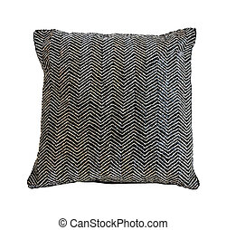 Decorative silver pillow isolated with clipping path included
