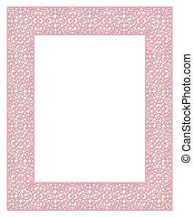 decorative pink frame