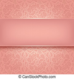 Decorative pink ornament - Vector ilustration 10eps