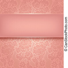 Decorative pink pattern - Vector illustration 10eps