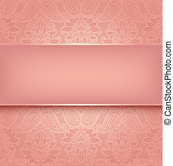 Decorative pink template - Vector illustration 10eps