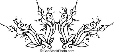 Decorative plant, illustration, vector on white background.