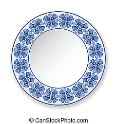 Decorative plate with a pattern