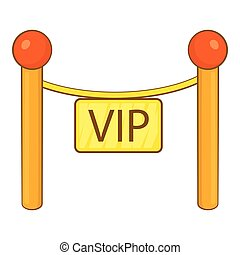 Decorative poles with tape for VIP icon