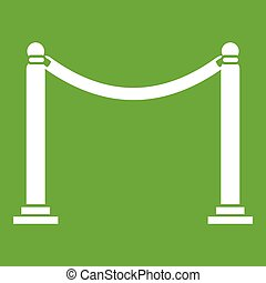 Decorative poles with tape icon green