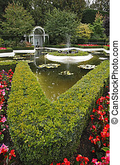Decorative pond with in the Italian park