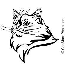 Decorative portrait of Cat 10
