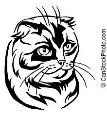 Decorative portrait of Cat 9