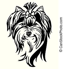 Decorative portrait of Dog Yorkshire Terrier vector...