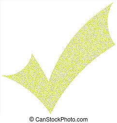 Decorative positive checkmark