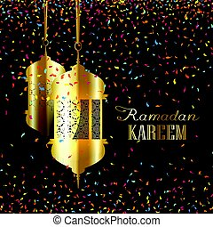 Ramadan background with confetti