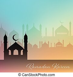 Decorative Ramadan Kareem background