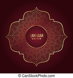 Decorative Ramadan Kareem background with elegant mandala design