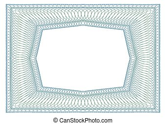 Decorative rectangular frame