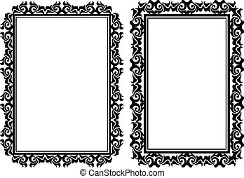 decorative rectangular frames