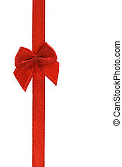 Decorative red bow ribbon