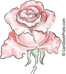 Decorative red rose