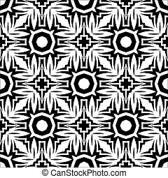Decorative Retro Black White Seamless Pattern